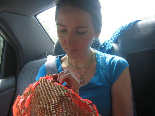 Crafting in car